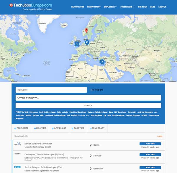 IT jobs in Europe