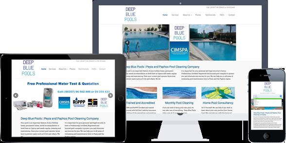 deep blue pools